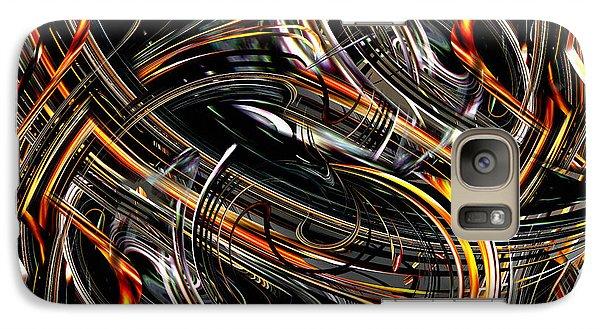 Galaxy Case featuring the digital art Esssss by rd Erickson