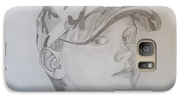 Galaxy Case featuring the drawing Ethan Age 6 by Justin Moore