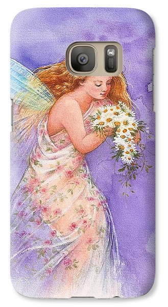 Galaxy Case featuring the painting Ethereal Daisy Flower Fairy by Judith Cheng