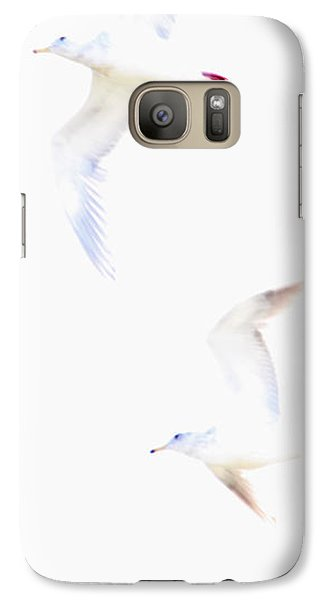 Galaxy Case featuring the photograph Ethereal Gulls by Peggy Collins