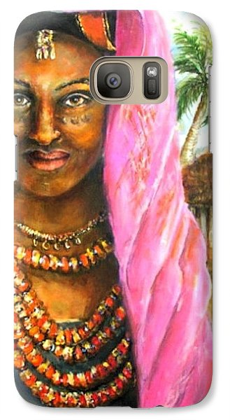 Galaxy Case featuring the painting Ethiopia Bride by Bernadette Krupa