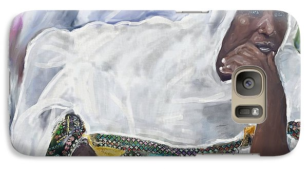 Galaxy Case featuring the painting Ethiopian Orthodox Jewish Woman by Vannetta Ferguson
