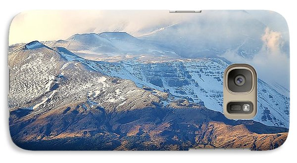 Galaxy Case featuring the photograph Etna With Snow by Kathleen Pio