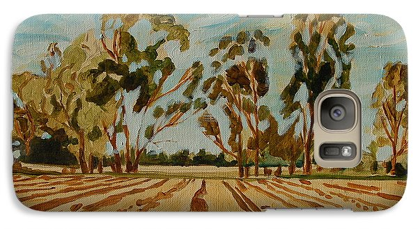 Galaxy Case featuring the painting Eucalypus Trees Near Bloemfontein by Thomas Bertram POOLE