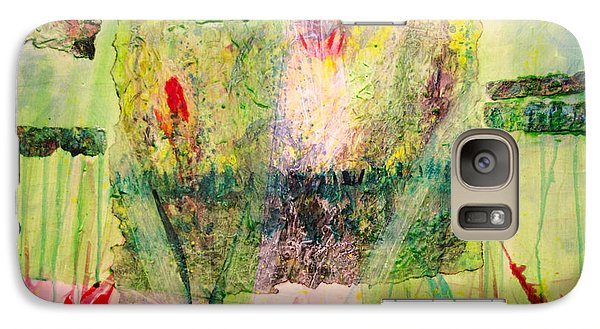 Galaxy Case featuring the painting Euphony by Ron Richard Baviello