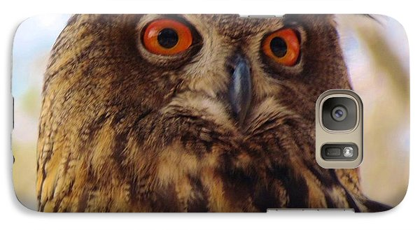 Galaxy Case featuring the photograph Eurasian Eagle Owl by Cynthia Guinn