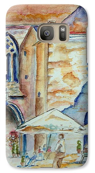 Galaxy Case featuring the painting European Cafe by Tamyra Crossley