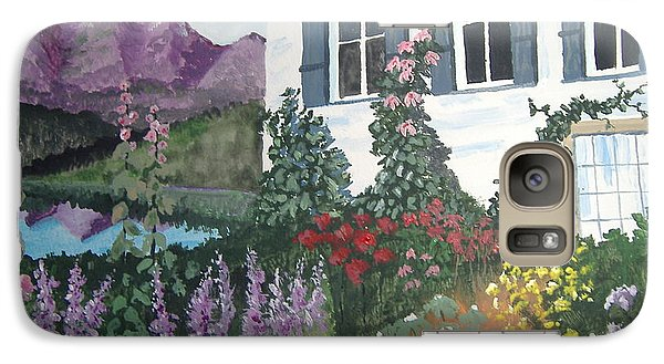 Galaxy Case featuring the painting European Flower Garden by Norm Starks