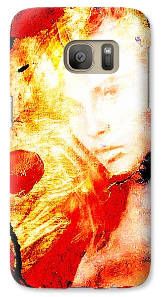 Galaxy Case featuring the digital art Evanescent Face by Andrea Barbieri