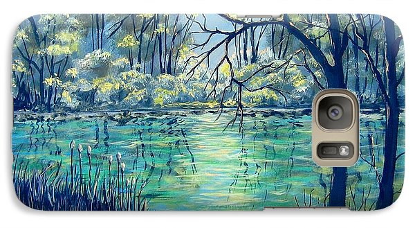Galaxy Case featuring the painting Evening At The Bayou by Suzanne Theis