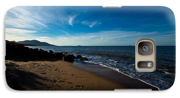 Galaxy Case featuring the photograph Evening Beach by Carole Hinding