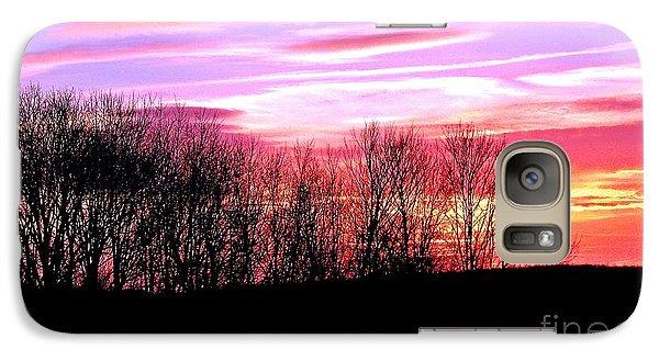Galaxy Case featuring the photograph Evening Blaze by Christian Mattison
