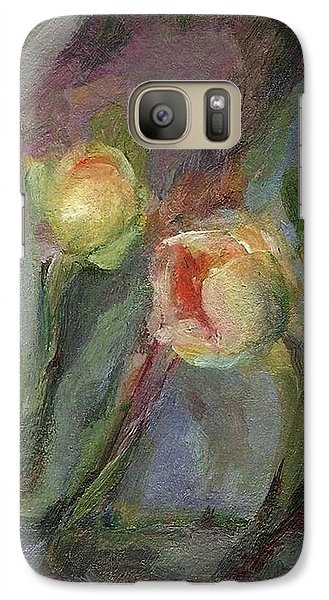 Galaxy Case featuring the painting Evening Bloom by Mary Wolf