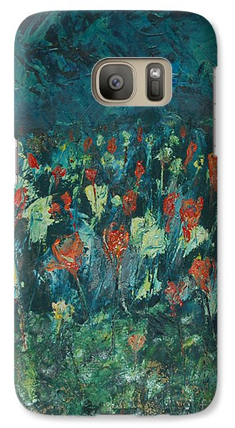 Galaxy Case featuring the painting Evening Buds by Mini Arora