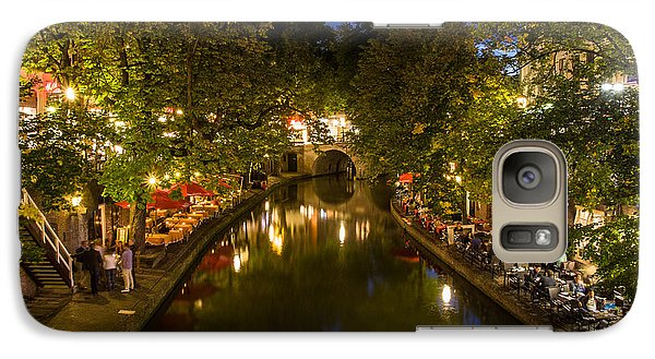 Galaxy Case featuring the photograph Evening Canal Dinner by John Wadleigh