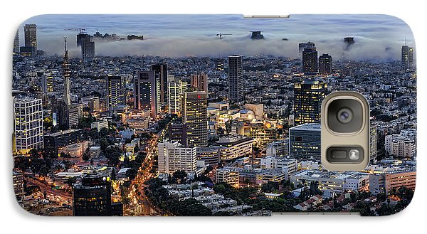 Galaxy Case featuring the photograph Evening City Lights by Ron Shoshani