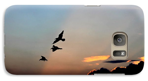 Galaxy Case featuring the photograph Evening Dance In The Sky by Bruce Patrick Smith