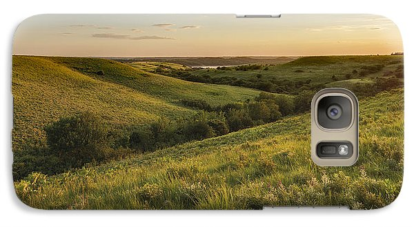Galaxy Case featuring the photograph Evening Glow  In The Flint Hills by Scott Bean
