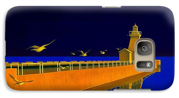 Galaxy Case featuring the painting Evening Glow by Michael Swanson