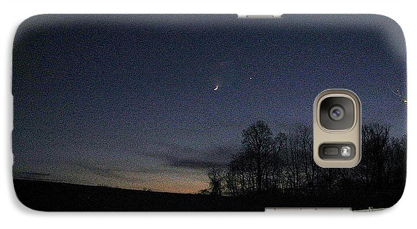 Galaxy Case featuring the photograph Evening In Horse Country by Judith Morris