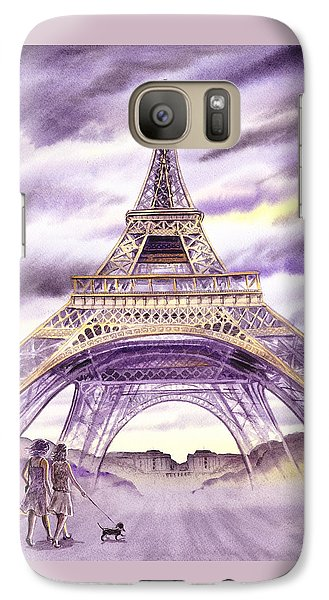 Evening In Paris A Walk To The Eiffel Tower Galaxy S7 Case