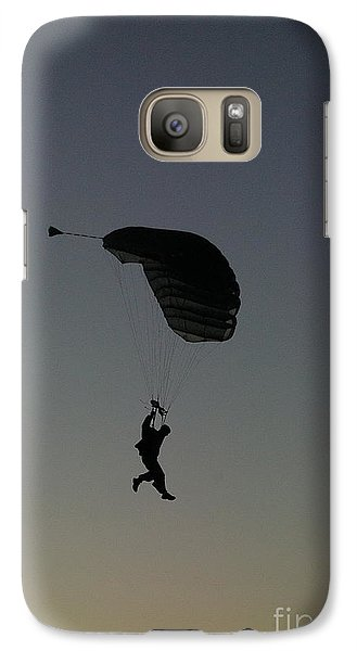 Galaxy Case featuring the photograph Evening Landing by Tannis  Baldwin