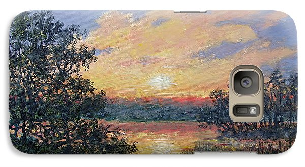 Galaxy Case featuring the painting Evening Marsh Light by Kathleen McDermott