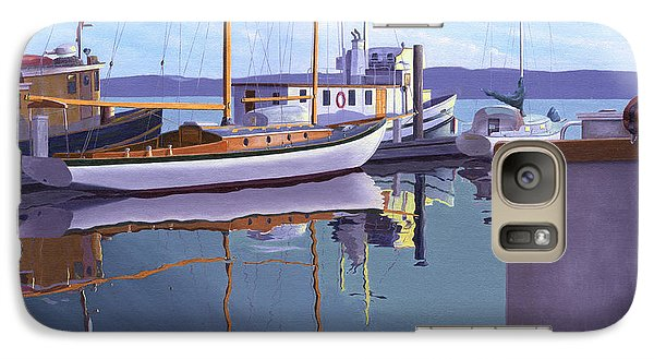 Galaxy Case featuring the painting Evening On Malaspina Strait by Gary Giacomelli