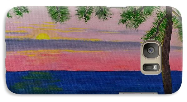 Galaxy Case featuring the painting Evening On Mobile Bay by Melvin Turner