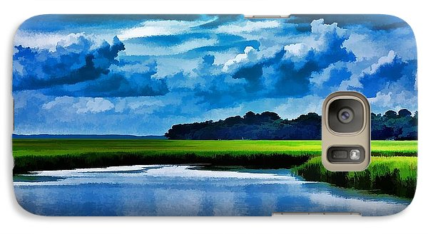 Galaxy Case featuring the photograph Evening On The Marsh by Ludwig Keck