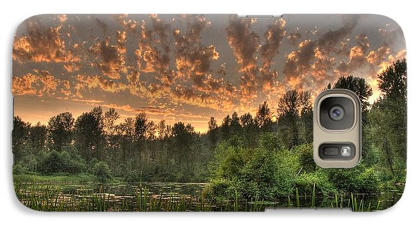 Galaxy Case featuring the photograph Evening Pond by Jeff Cook