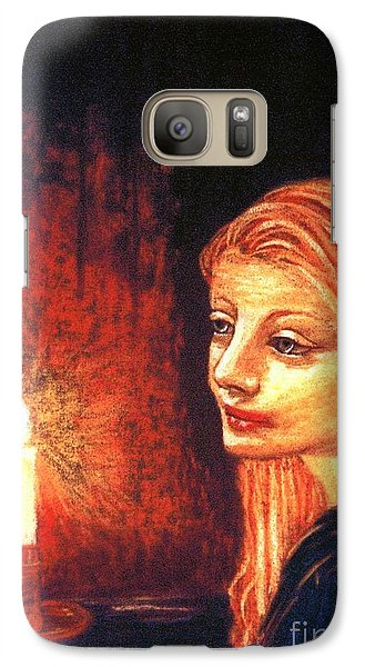Galaxy Case featuring the painting Evening Prayer by Jane Small