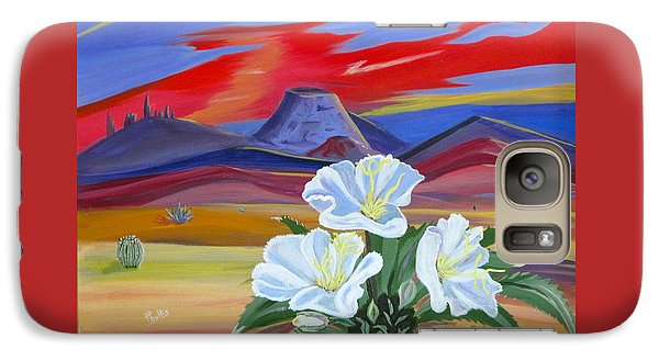 Galaxy Case featuring the painting Evening Primrose by Phyllis Kaltenbach