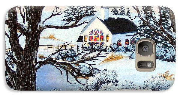 Galaxy Case featuring the painting Evening Services by Barbara Griffin