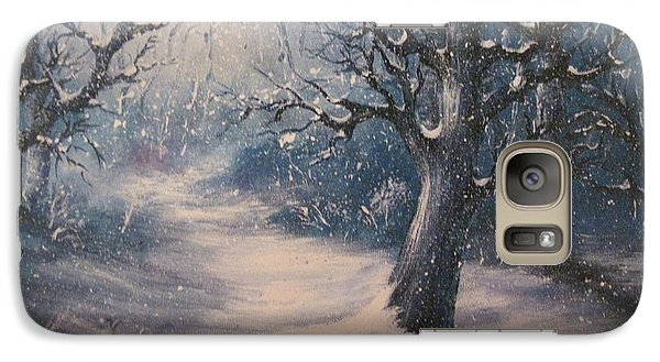Galaxy Case featuring the painting Evening Snow by Megan Walsh