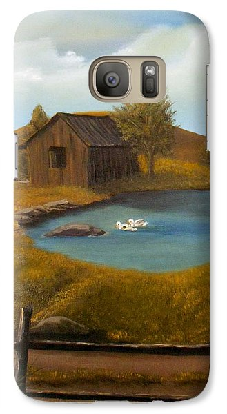 Galaxy Case featuring the painting Evening Solitude by Sheri Keith