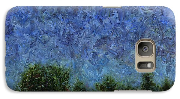 Galaxy Case featuring the painting Evening Star - Square by James W Johnson