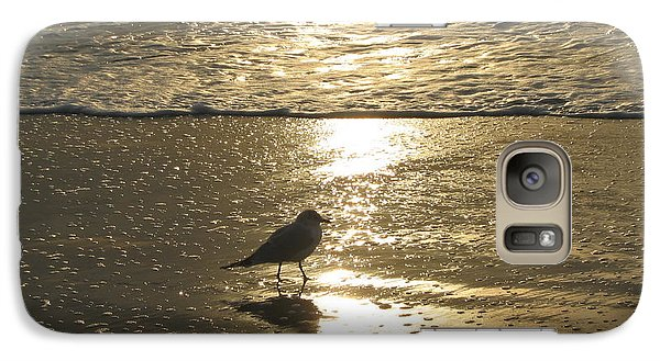 Galaxy Case featuring the photograph Evening Stroll For One by Judith Morris