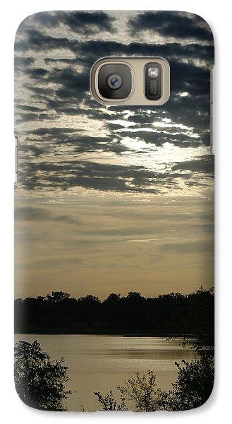 Galaxy Case featuring the photograph Evening Sunset by Roseann Errigo