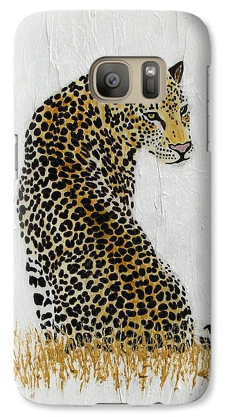Galaxy Case featuring the painting Ever Watchful by Stephanie Grant
