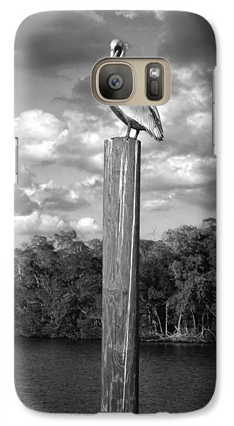 Galaxy Case featuring the photograph Everglades Pelican by Timothy Lowry