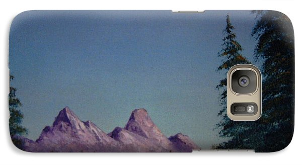 Galaxy Case featuring the painting Evergreen by Stuart Engel