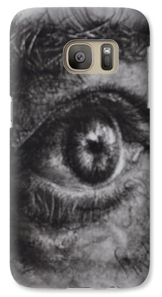Galaxy Case featuring the drawing Every Eye Tells Its Own Story by Linda Ferreira