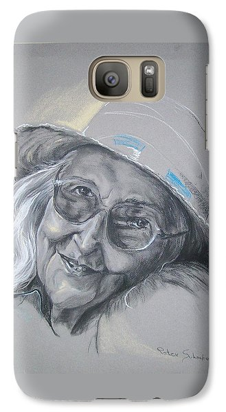 Galaxy Case featuring the drawing Everybodys Grandma by Peter Suhocke