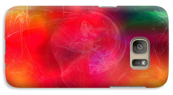 Galaxy Case featuring the digital art Everything Is Energy by Martina  Rathgens