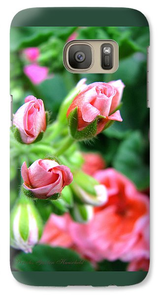 Galaxy Case featuring the photograph Everything's Coming Up Geraniums by Brooks Garten Hauschild