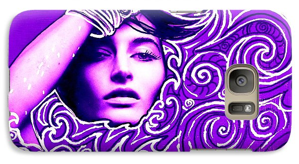 Galaxy Case featuring the painting Everywhere You Look You See Yourself by Julie  Hoyle