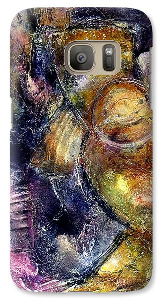 Galaxy Case featuring the painting Evoke by Katie Black