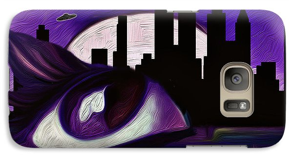 Galaxy Case featuring the painting Evolution by Persephone Artworks