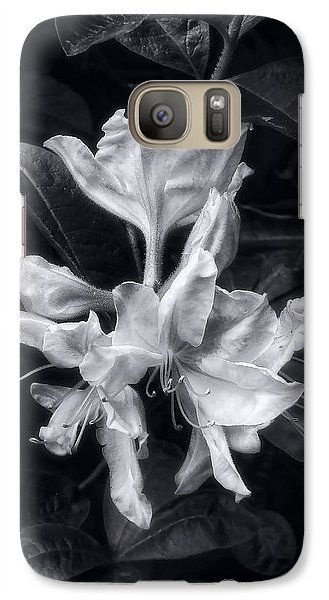 Galaxy Case featuring the photograph Exbury Azalea In Black And White by Louise Kumpf